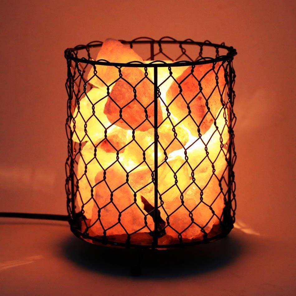 Natural Himalayan Salt Basket Lamp Dimmable Switch Himalayan Salt Lamp Lamp Natural Himalayan Salt Lamp