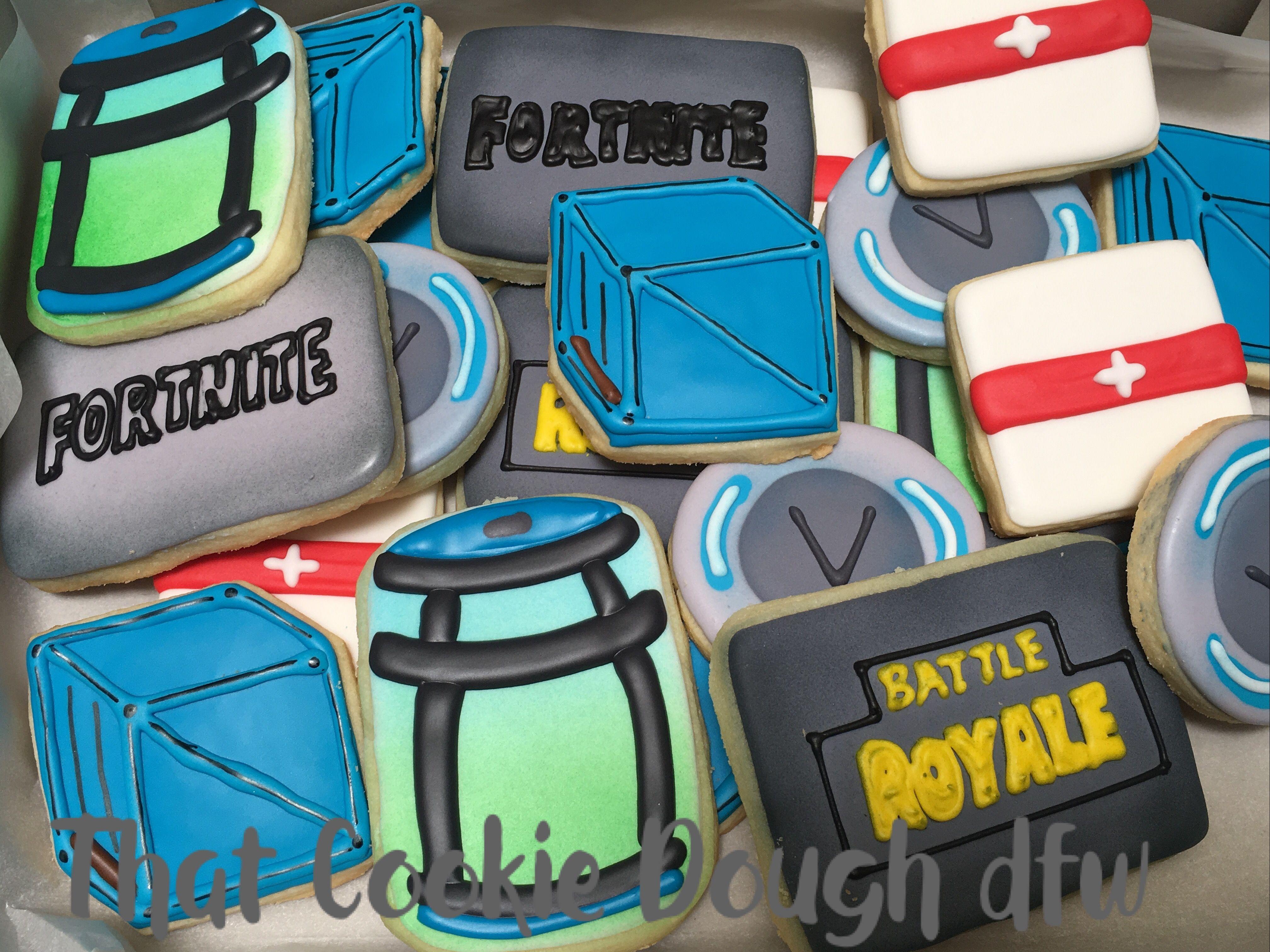 Fortnite cookies birthday cake toppers cookie