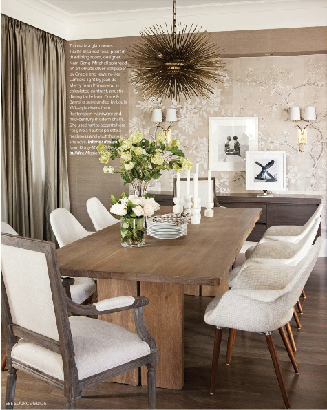 Beautiful Dining Room, Great Eclectic Mix |nam Dang Mitchell · Rustic TableDiy  Farmhouse TableWood ... Gallery