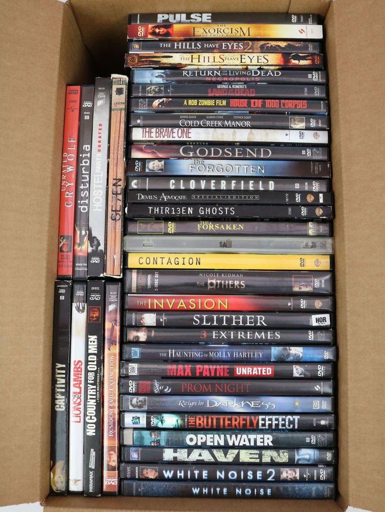 38 Used Dvd Lot Horror Movie Bulk Wholesale Thriller Zombies Movies Tested Horror Movies Zombie Movies Horror