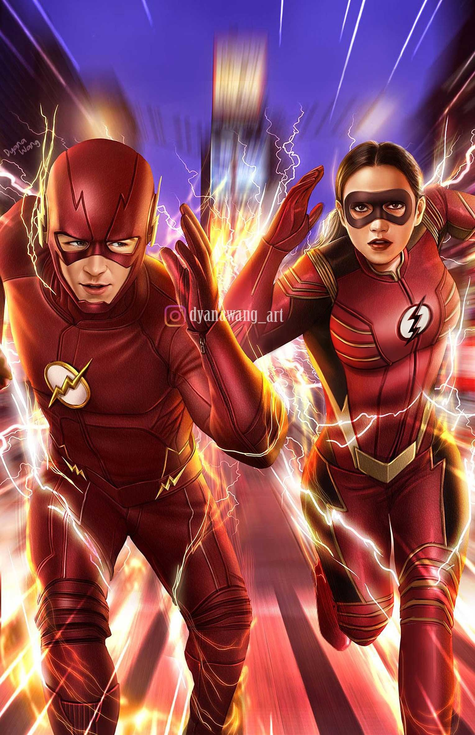 The Flash Vs Jesse Quick Fan Art Commission Job Theflash Cw