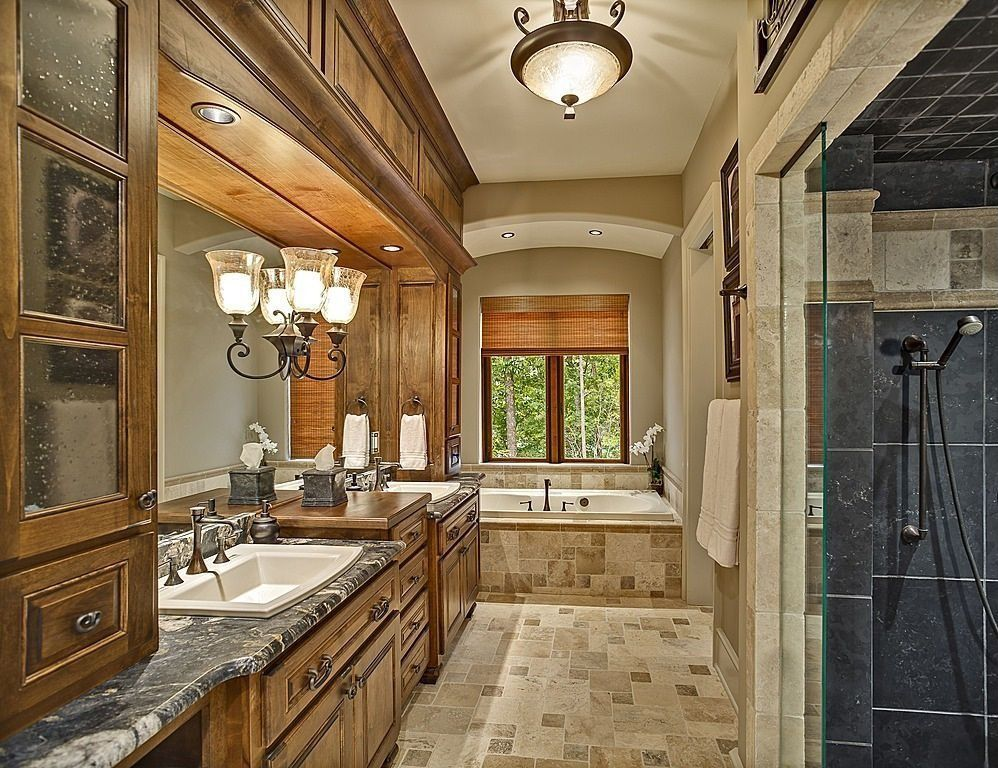 Rustic Master Bathroom   Found On Zillow Digs