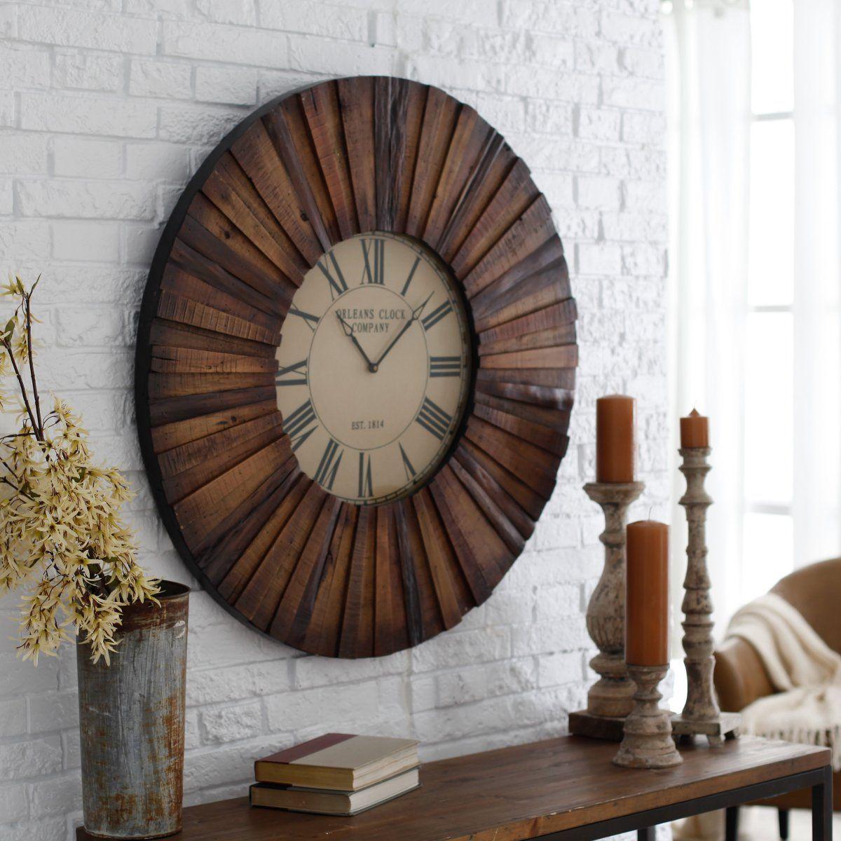 Cooper Classics Chatham 36 In Wall Clock Www Hayneedle Com Wood Traditional Clocks