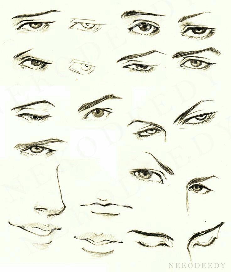 Anime Boy Face Tutorial To Artist Vorlagen Ojos Ojos Anime