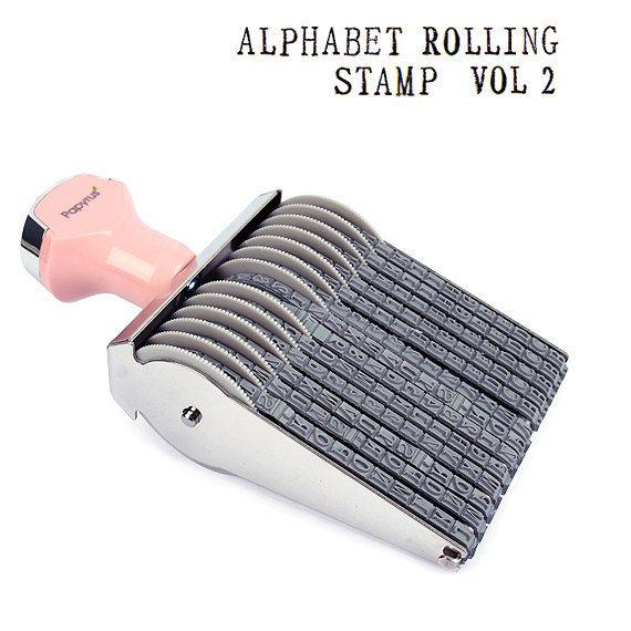 Alphabet Number Rolling Decoration Stamp Vol2 By Glassnam On Etsy 2100