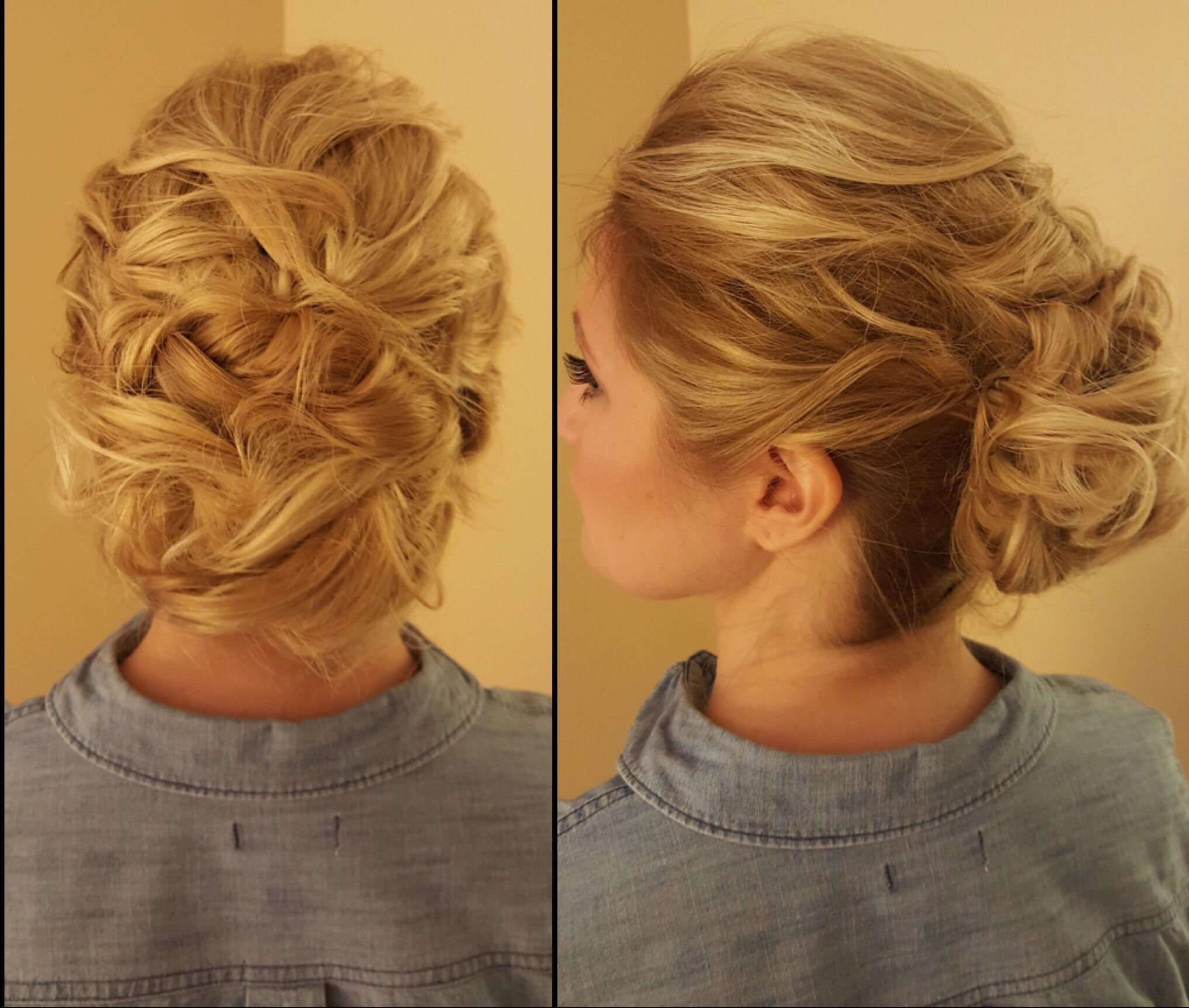 Updo done by Classic Hair and Makeup, Pittsburgh.