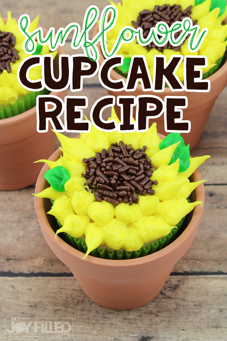 Sunflower Cupcakes If you're looking for the perfect cupcake for your next summer or fall gathering, you are going to love this sunflower cupcakes recipe.  So cute and easy to make!