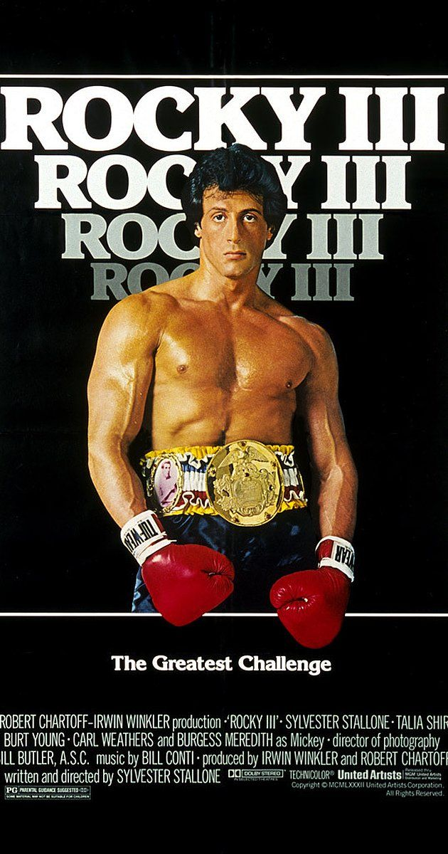 Rocky Iii 1982 Sylvester Stallone Movie Covers Sports Movie