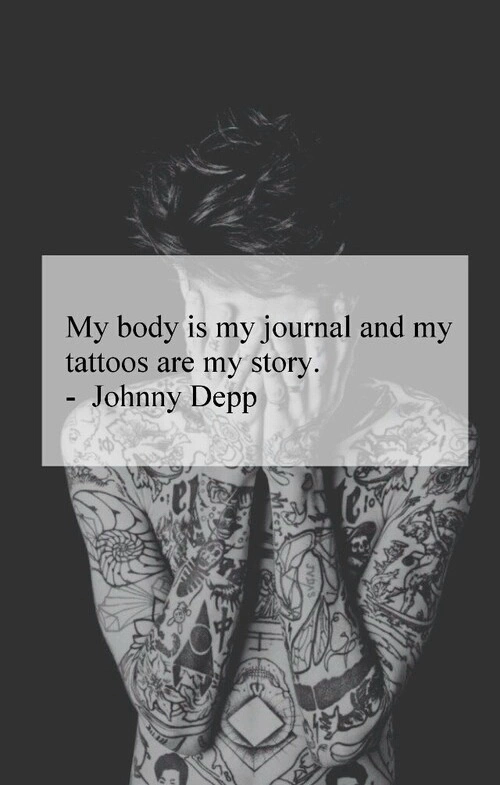 Citation Tatouages My Body Is My Journal And My Tattoos