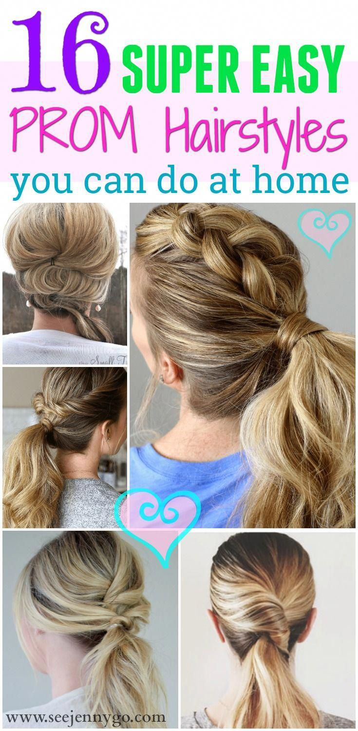Super easy to-do PROM hairstyles you won't need a stylist for. Try out these unique … | Easy ...