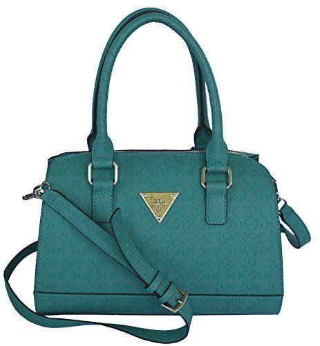 GUESS Signature Embossed Swoon Satchel Crossbody Bag Handbag Purse ...