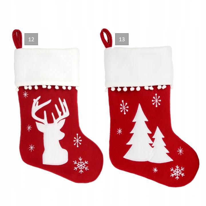 Ozdoba Skarpeta Na Kominek Prezent Swieta Wzory 8626778310 Oficjalne Archiwum Allegro Christmas Stockings Holiday Decor Decor