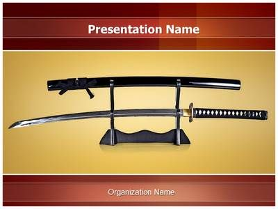 japanese samurai sword powerpoint template is one of the best, Presentation templates