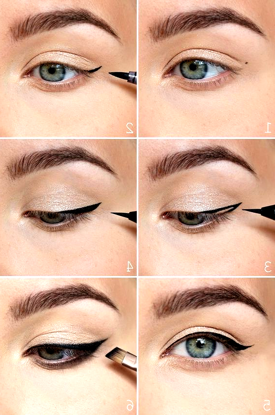 the easiest way to do winged eyeliner