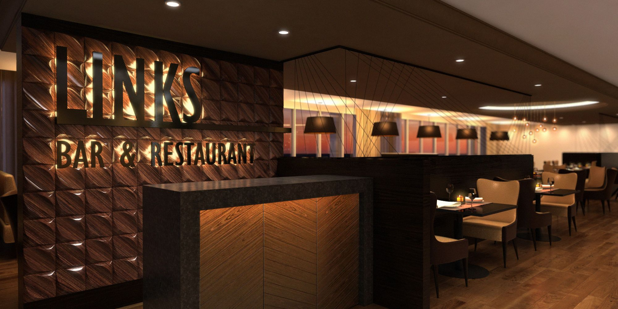 interior design concept - royal golf club bahrain. restaurant