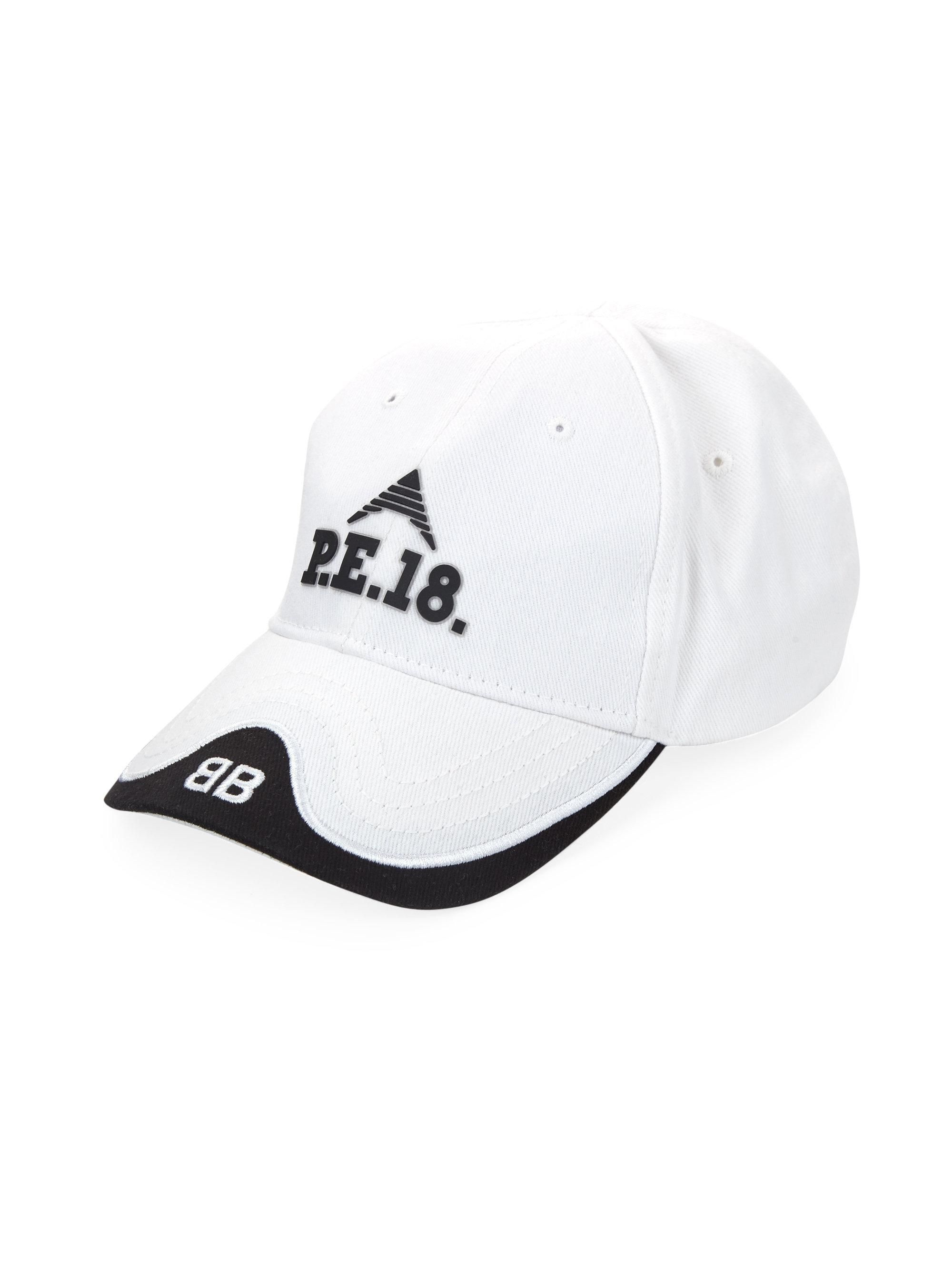 e684f7c79cf19 Women s P.e. 18 Baseball Cap - White Black
