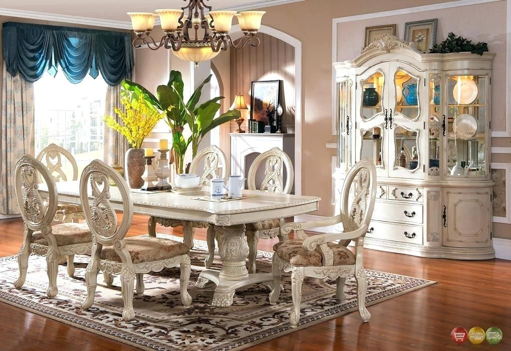 Beautiful Antique White Kitchen Table Set Snapshots Amazing A
