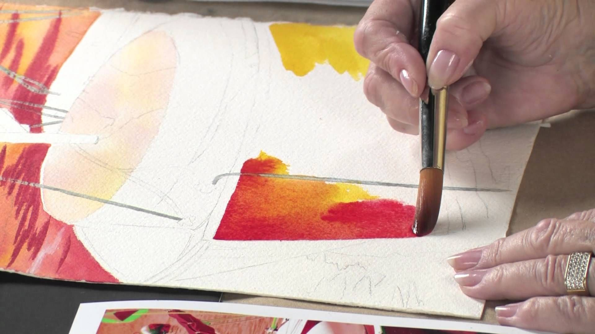 Watercolor techniques for daring color with anne abgott