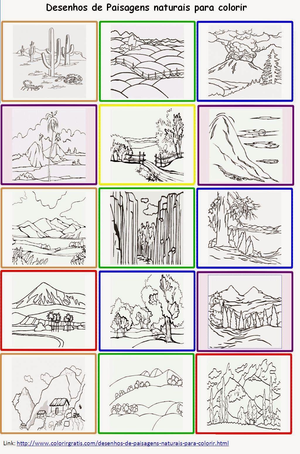 Desenhos De Paisagens Naturais Para Colorir Poster Paisagem