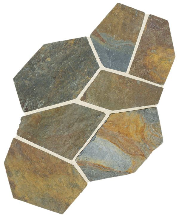 Slate Collection Mongolian Spring S781 (Pattern Flagstone Natural Cleft Gauged) Natural Stone Floor Tile