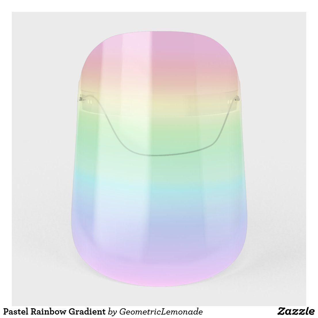 Pastel Rainbow Gradient Face Shield | Zazzle.com