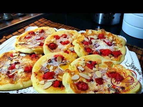 بان كيك بالفواكه والعنب المجفف لذيذ جدا X2f Recette Des Pancakes Aux Fruits Youtube Food Desserts Vegetable Pizza