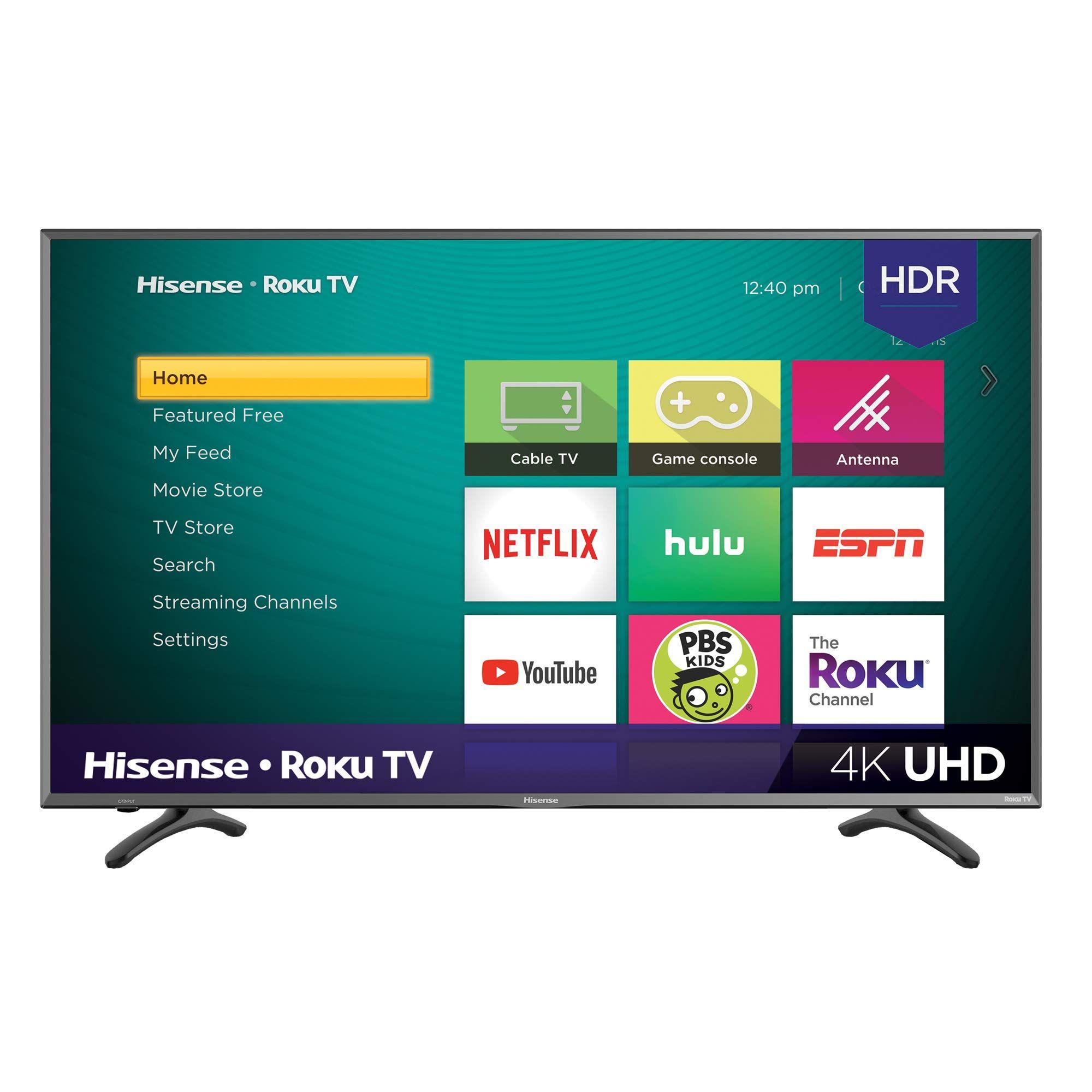 Hisense 50r7e 50 Inch 4k Ultra Hd Roku Smart Led Tv Hdr 2019 Smart Tv 4k Tv Roku
