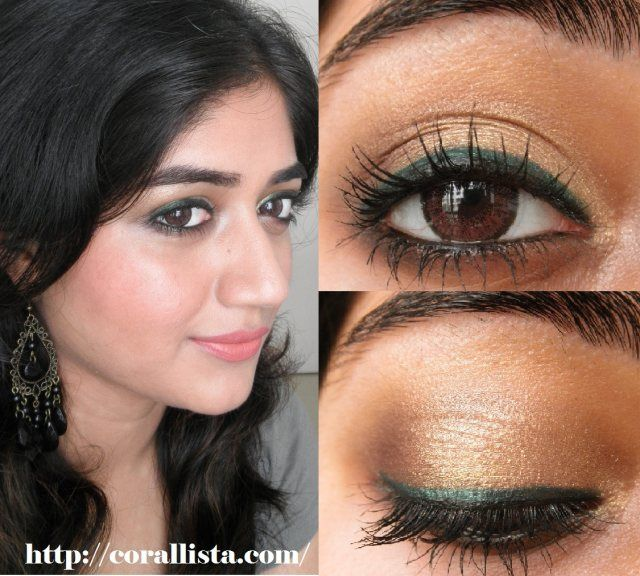 Tutorial Thursday Wearable Green And Gold Step By Eye Makeup