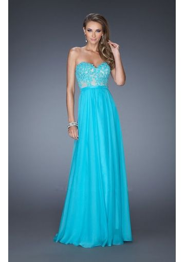 Sky Blue Long Prom Dress