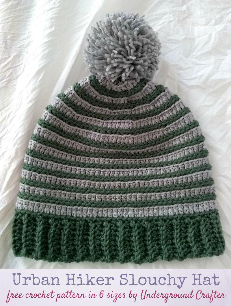 Crochet Pattern: Urban Hiker Slouchy in 6 Sizes   CRAFTS - Crochet ...