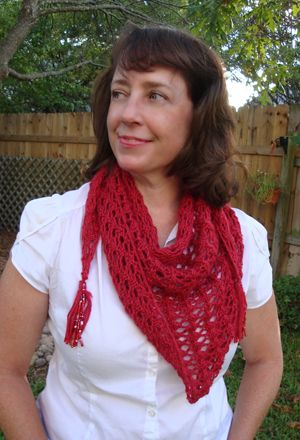 Blogathon Lace Triangle Scarf Knit Pattern Love The Tassles Lots