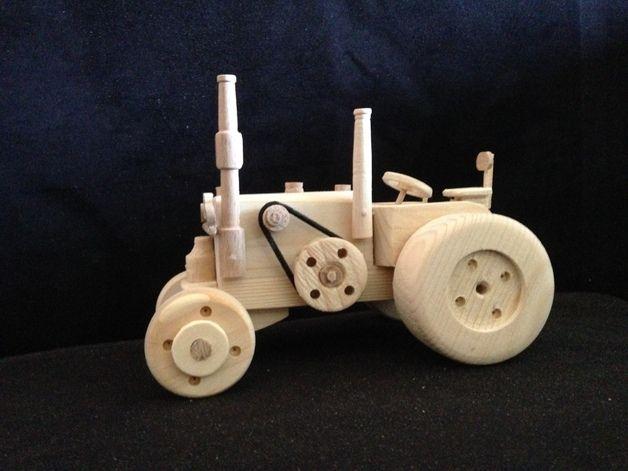 Traktor quot lanz bulldog aus holz holzspielzeug traktoren