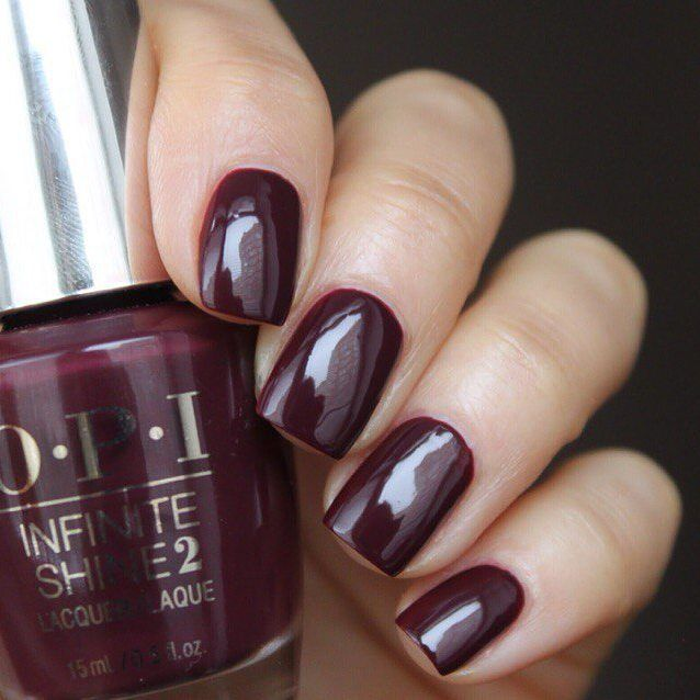 OPI Infinite Shine - Stick To Your Burgundies | NAILS | Pinterest ...