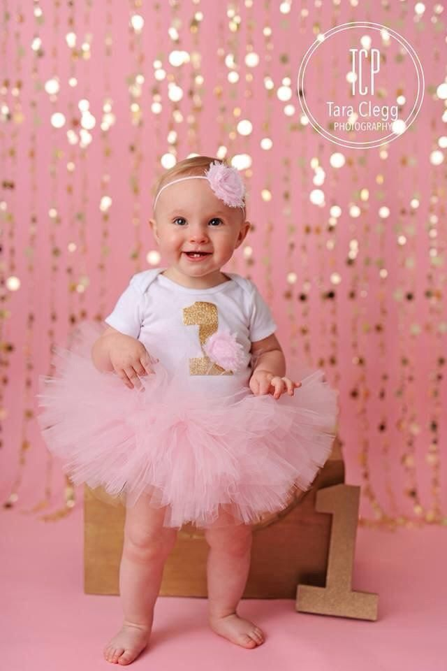 Pink Birthday Tutu - Baby Girl Birthday Outfit - 1st Bday Girl ...