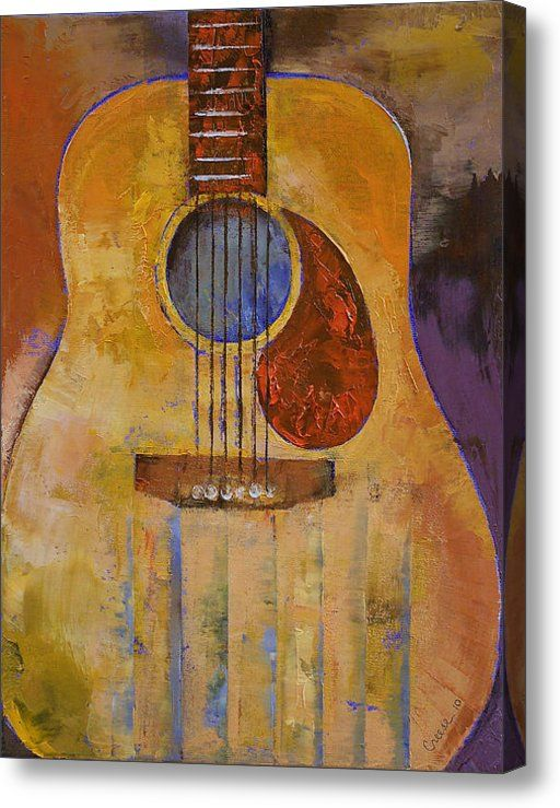 Acoustic Guitar Acrylic Print By Michael Creese Guitar
