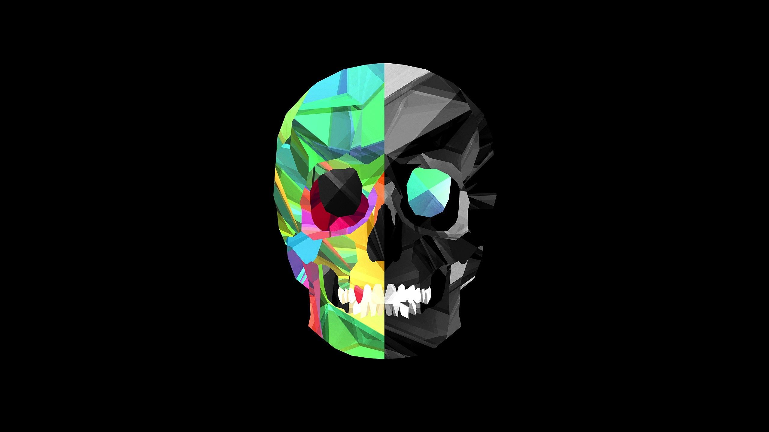 Digital Art Skull Wallpaper 2560x1440 Id 53929 Wallpaper Tengkorak Wallpaper Komputer Wallpaper Keren