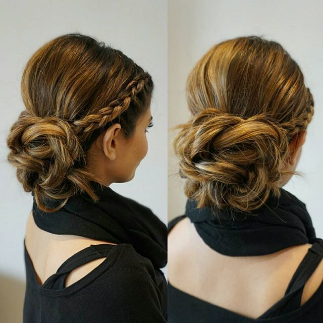 Holiday hair!  #thebridebar #theblowoutbar #updo #upstyle #romantic #modernsalon #bridemaidshair