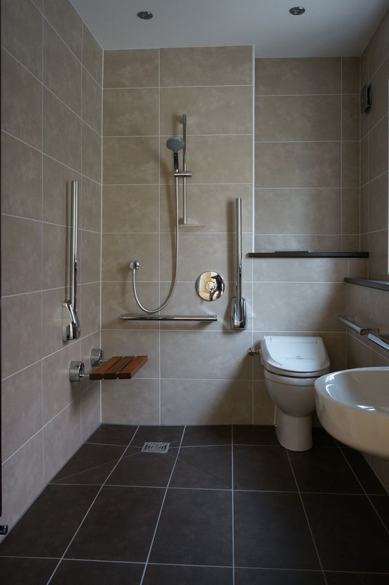 shower with disabled access disable bathroom pinterest bath detail ...