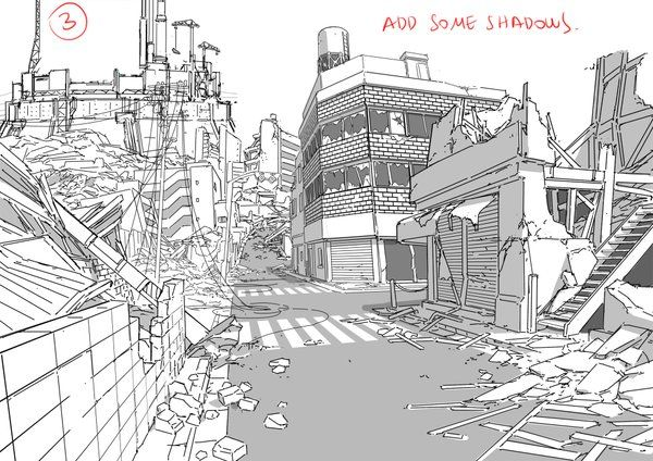 Tips For Drawing Backgrounds In 2020 Background Drawing Thomas Romain Drawings