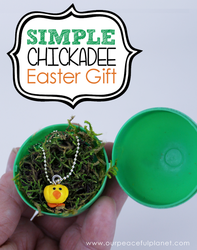 Easy clay chick easter gift plastic eggs easter and egg a quick yet personal easter gift you can make for any age these little chickadees negle Gallery