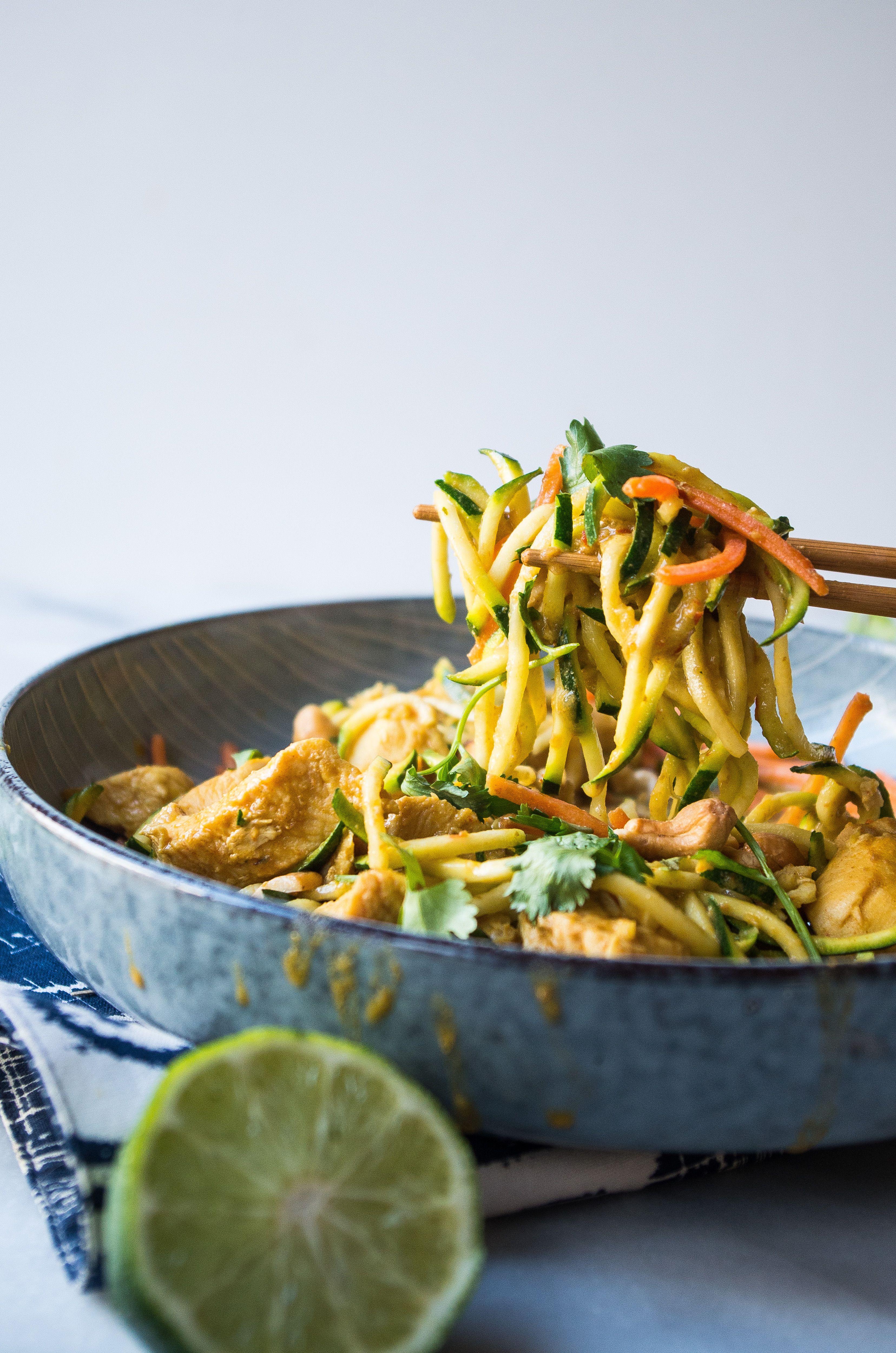 Whole30 Instant Pot Chicken Pad Thai   Recipe   Whole 30 ...