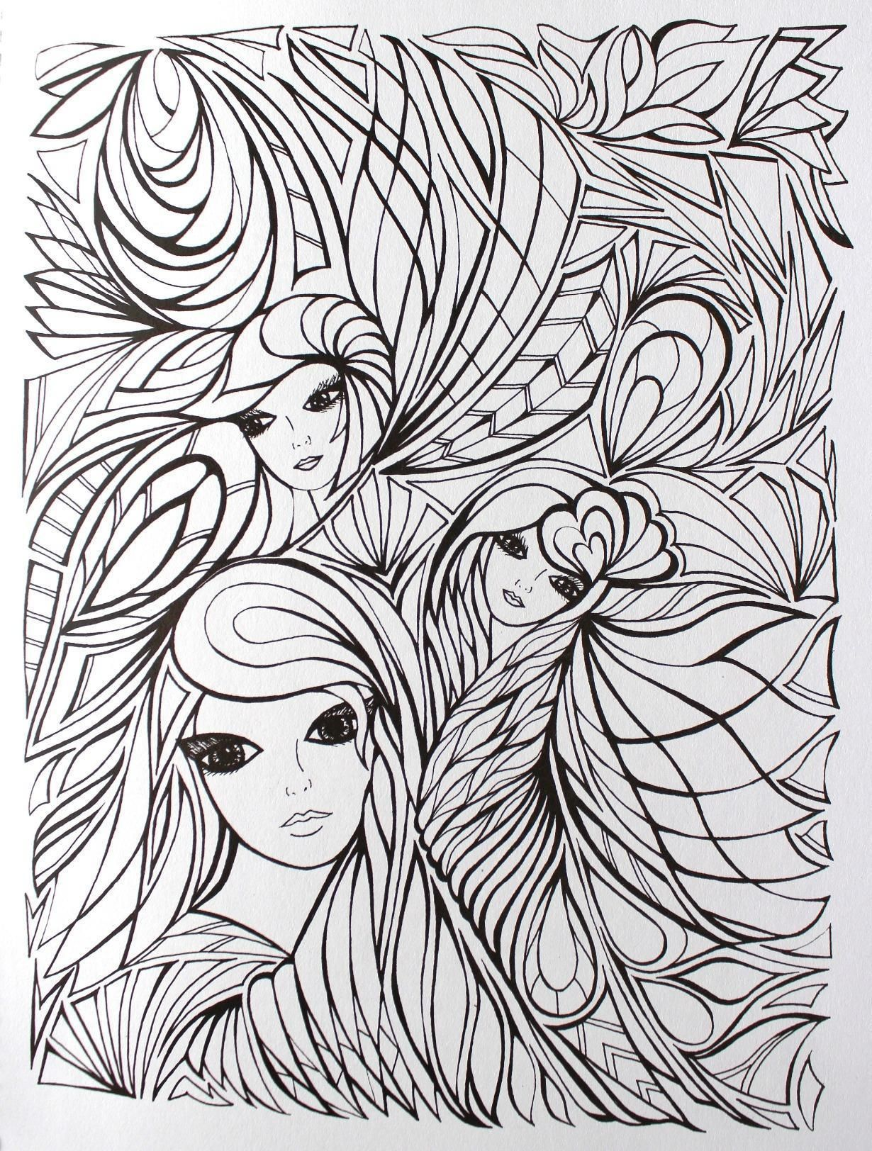 Frozen coloring pages amazon - Creative Haven Fanciful Faces Coloring Book Creative Haven Coloring Books Miryam Adatto