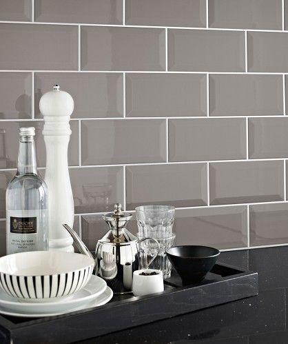 Grey Kitchen Wall Tiles Design