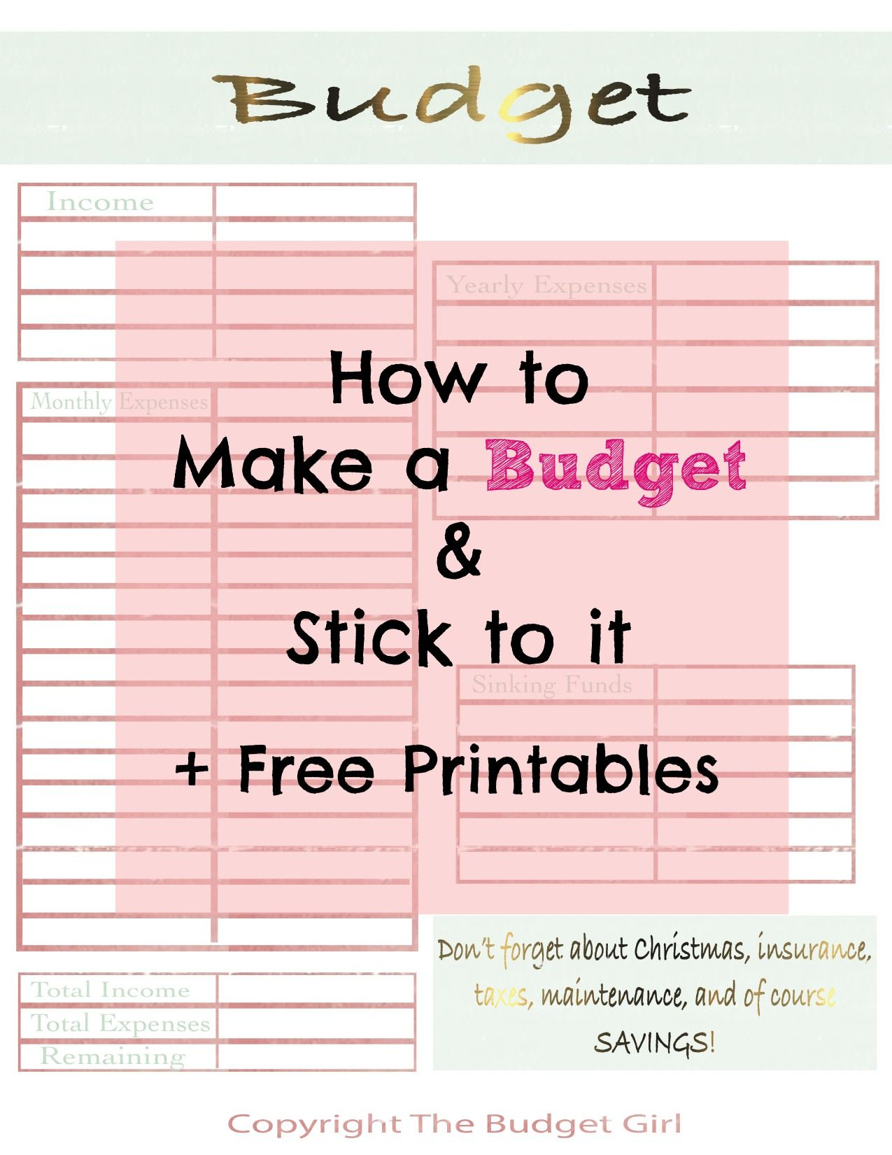 Budgeting For Beginners A Free Step By Step Guide