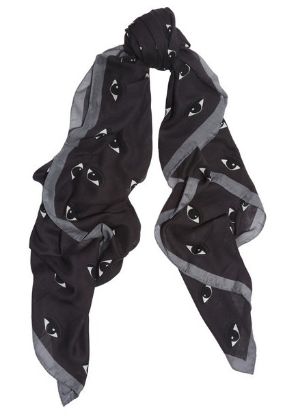 new eyes printed modal scarf : kenzo