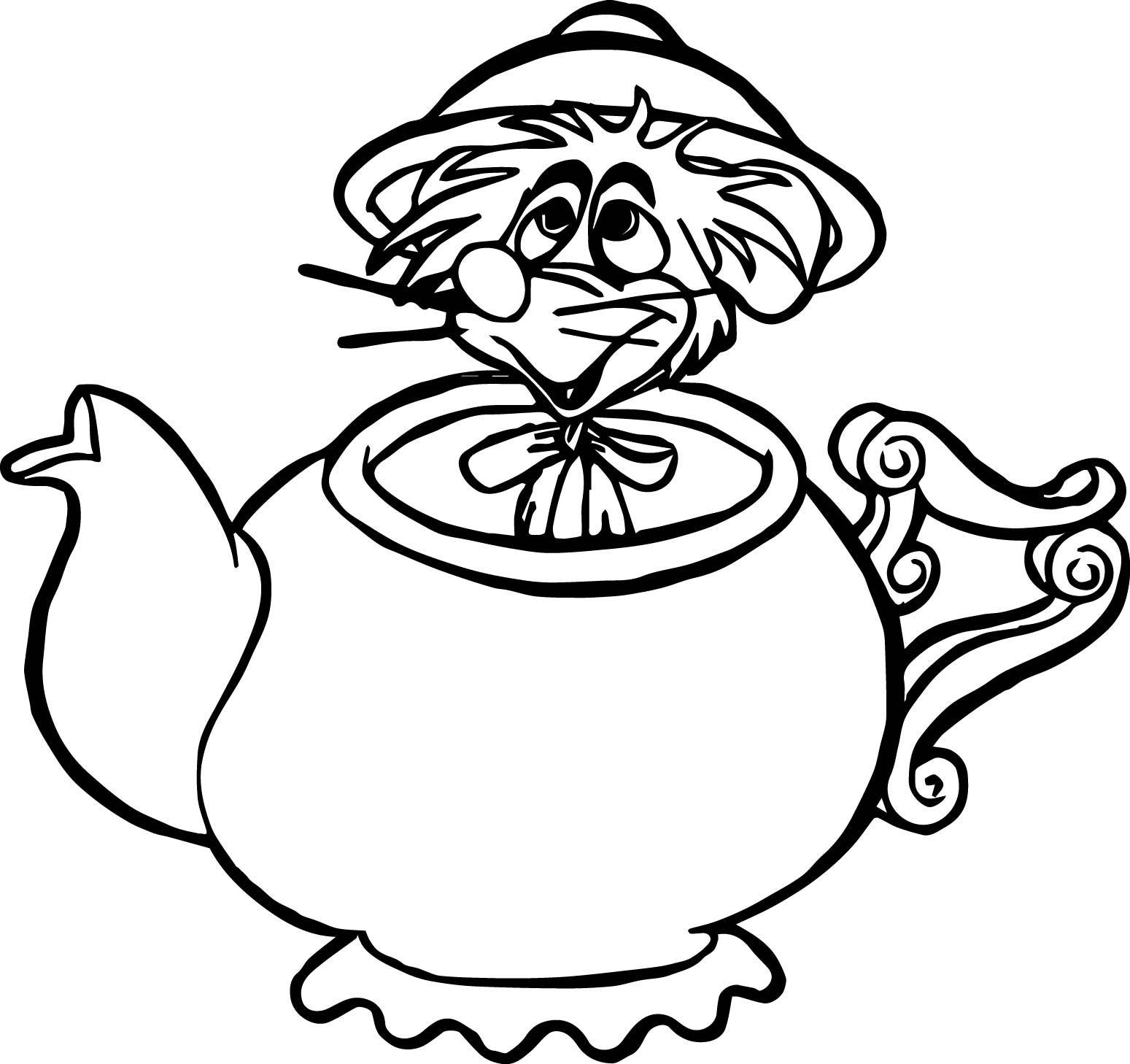 Alice In The Wonderland Mouse Coloring Pages  Wecoloringpage.com