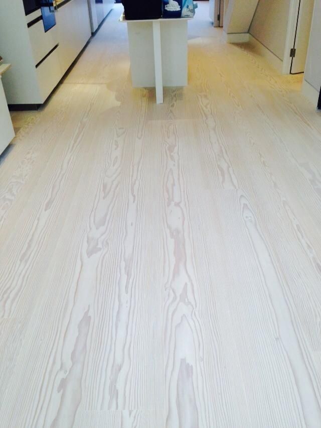 Douglas Fir Wood Floor Finished In Stunning White Beautiful