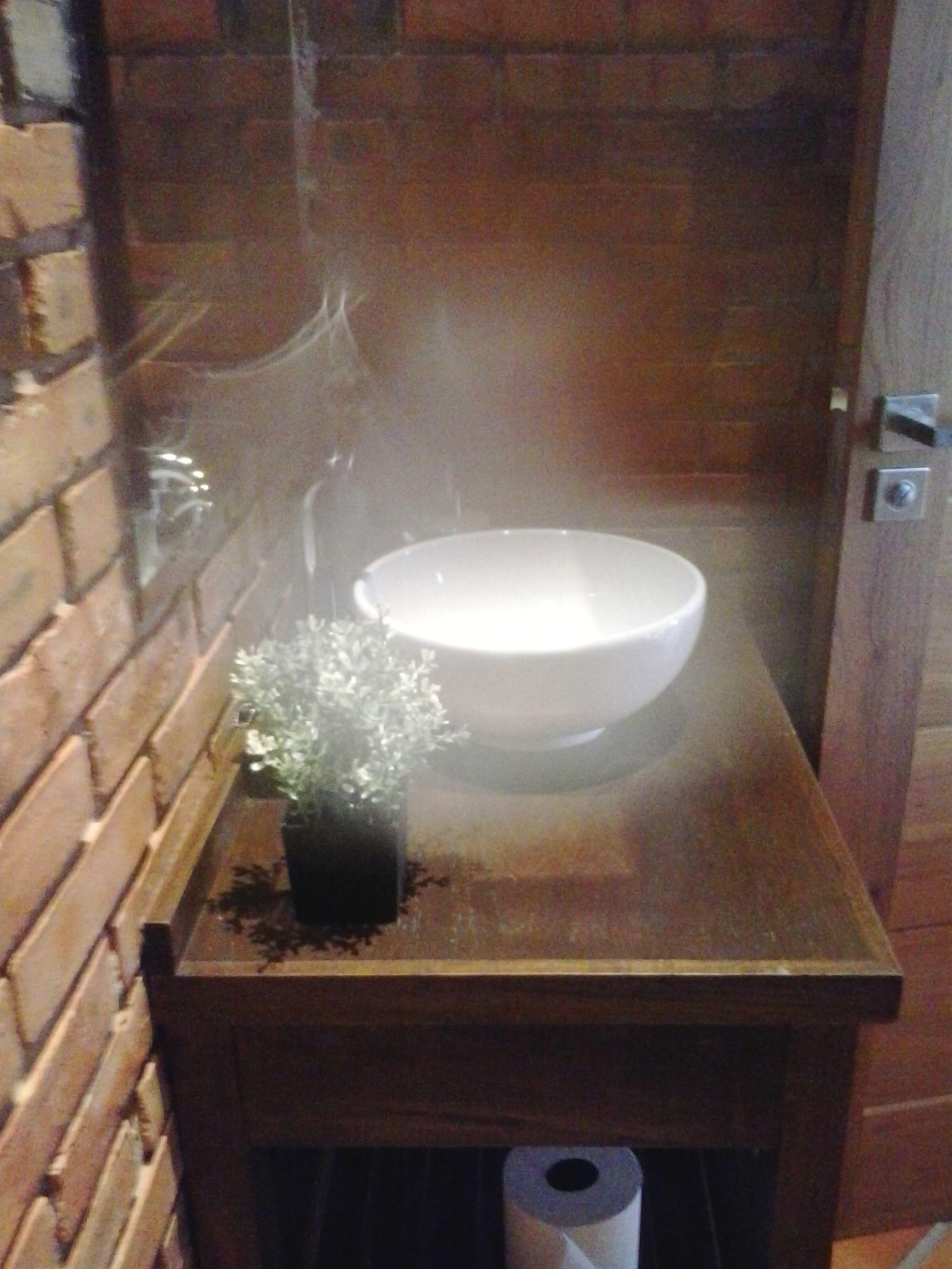 Lavatorio de sobreponer sobre mesa r stica para ba o for Lavamanos rusticos de madera