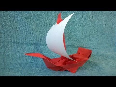 Origami Tutorial Origami Sailboat Youtube Origami Ship Rainbow Origami Paper Origami Flowers