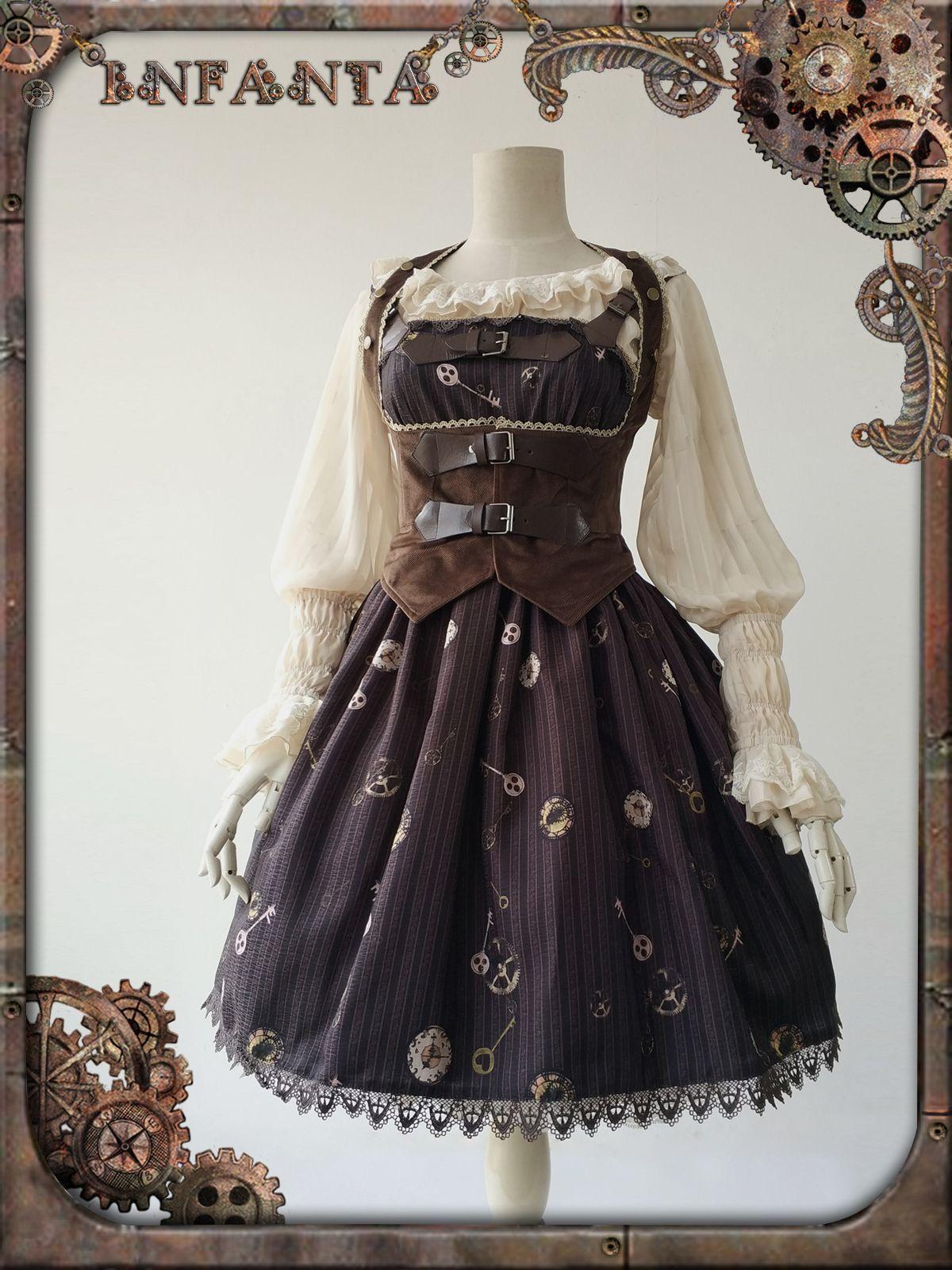 d42379ad581 Infanta -Antique Mechanical Doll- Steampunk Lolita Casual Lolita JSK ...